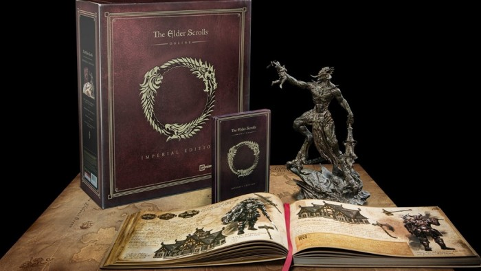 The physical bundle of the Collector's Imperial Edition of the Elder Scrolls Online