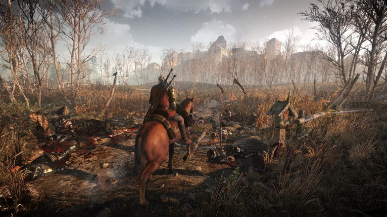 It wouldn't be a Witcher 3 game without a hefty does of corpses, would it?
