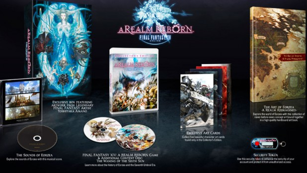 Collector's Edition of Final Fantasy XIV:Realm Reborn on the PS4