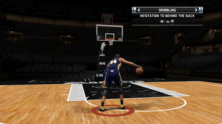 You can now practice moves in an empty gym, controlling any NBA player you want!
