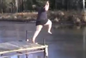 Fat-guy-jumping-on-ice