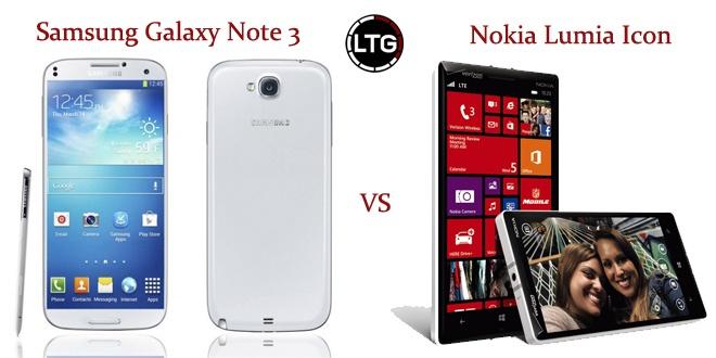 Samsung Galaxy Note 3 vs Nokia Lumia Icon
