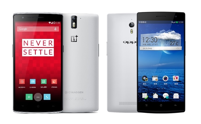 Oneplus One Vs Oppo Find 7a