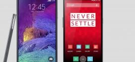 Galaxy Note 4 vs OnePlus One – behemoth battle