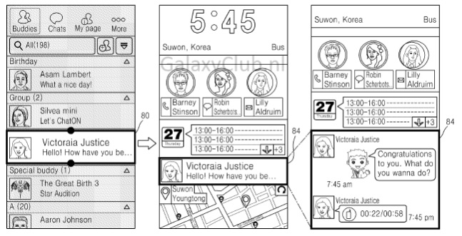 TouchWiz Iconic UX patent