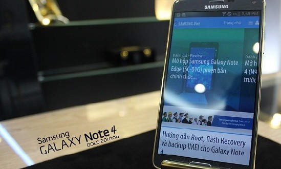 24K gold Samsung Galaxy Note 4 available for purchase – Load