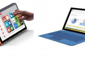 Surface Pro 3 versus Lenovo Yoga 3 Pro - convertible battle
