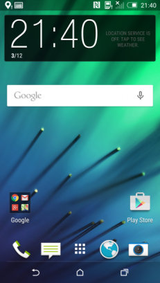 Sense 6.0 screenshot on HTC One M8 with Android 5.0 Lollipop