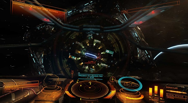 Elite: Dangerous Entering Port