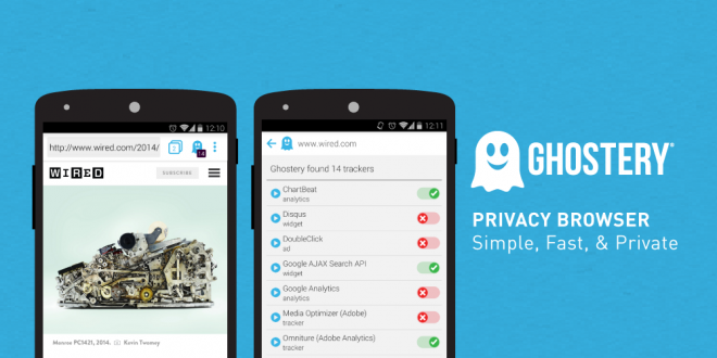 Ghostery Privacy Browser coming to Android devices.
