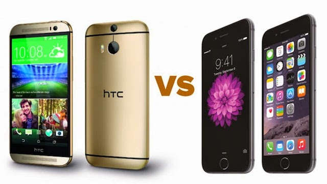htc vs iphone 6 plus