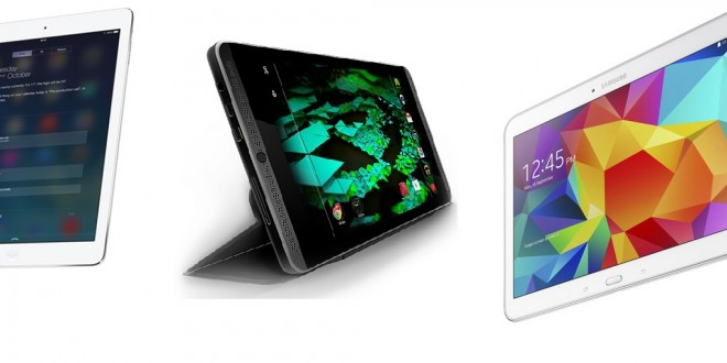 iPad Air 2 goes up against the Nvidia Shield Tablet and the Samsung Galaxy Tab 4 10.1