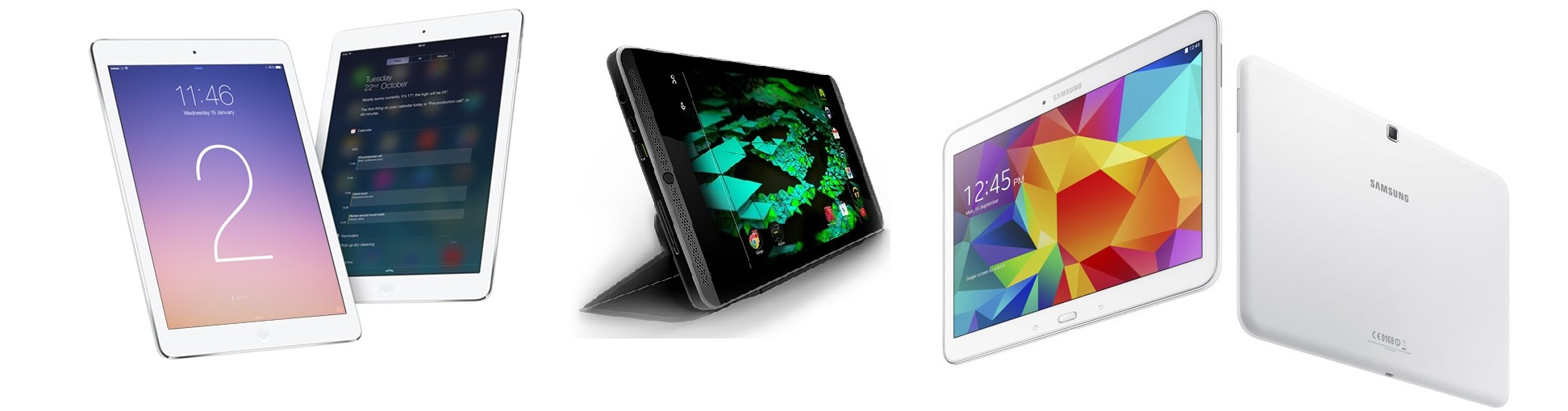 iPad Air 2 vs Galaxy Tab 4 10.1 vs Nvidia Shield Tablet: performance and prices compared