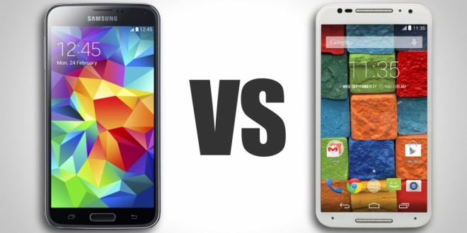 Moto X (2014) vs Samsung Galaxy S5 comparison