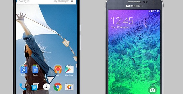 Nexus 6 vs Samsung Galaxy Alpha comparison
