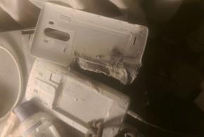 Harmless LG G3 battery explodes, mattress catches fire