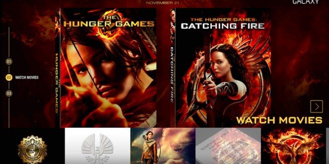 Some Samsung device owners can enjoy free Hunger Games movies with the new Lionsgate Hunger Games Movie Pack app