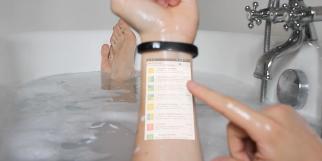 Cicret Bracelet: your arm is the display and interface, at the same time