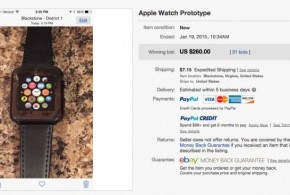 Fake Apple Watch sold on eBay