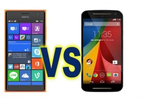 Nokia Lumia 730 vs Moto G 2014 comparison
