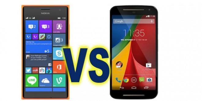 Nokia Lumia 730 vs Moto G 2014 comparison