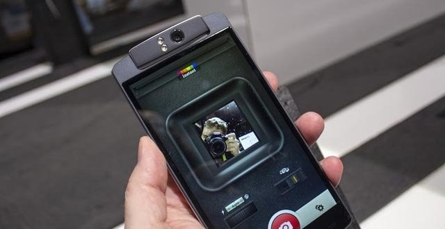 Nope, this isn't the Oppo N1, it's the Polaroid Selfie.