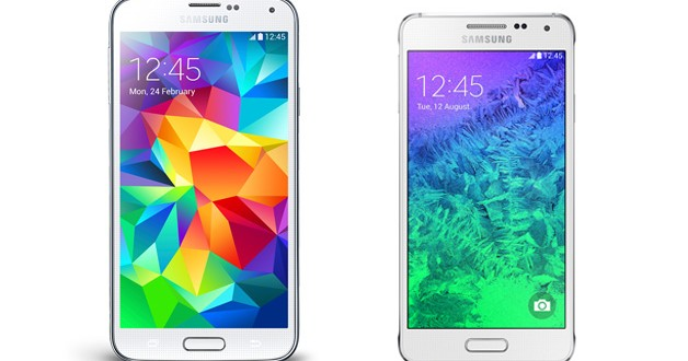 Samsung Galaxy S5 vs Samsung Galaxy Alpha comparison