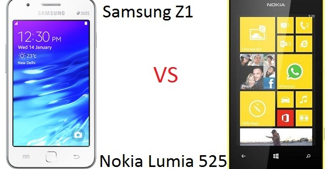 Samsung Z1 vs Nokia Lumia 525 comparison