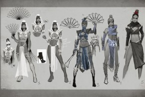 Mortal Kombat X characters: Kitana and Reptile