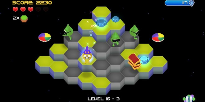 Q*Bert Rebooted hexagons