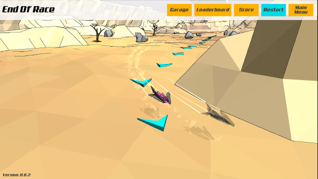PolyRace is a fast-paced racing game.