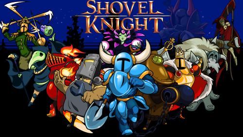 Shovel Knight, a retro 2-D platformer.