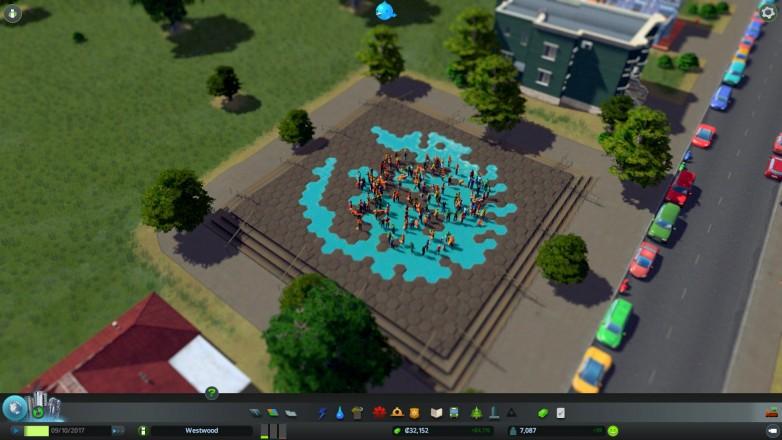 Flash mob at Paradox Plaza!
