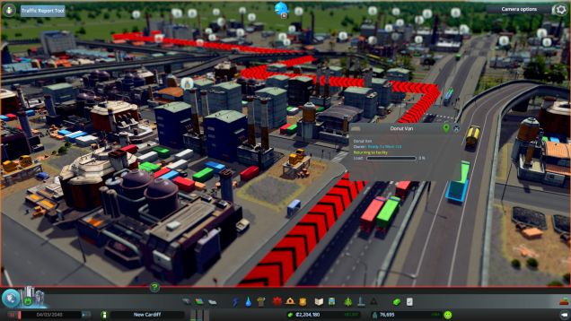 The Traffic Report mod assists in fixing traffic jams by providing details.