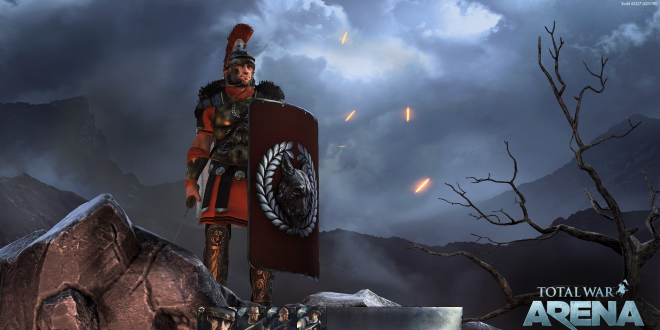A glimpse of what looks to be Total War: Arena's homescreen.
