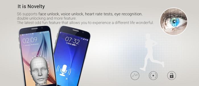 Landvo-S6-Voice-unlock-heartrate-sensor