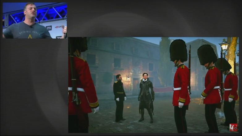 The British Royal Guards, ready to pay back their commander's debt.