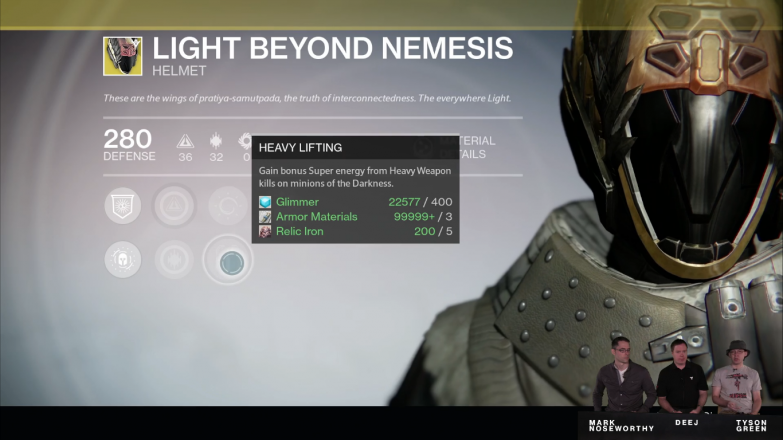 A significant buff to certain Exotics through added perks, as evidenced by this upgraded Warlock helm.