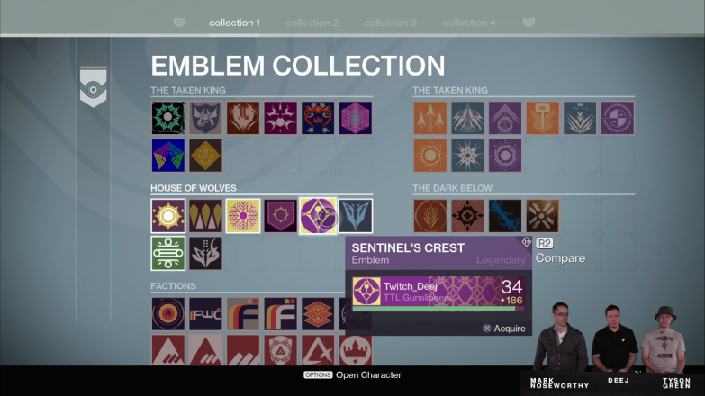 All your shaders and emblems in one central location, other than your Vault of course.