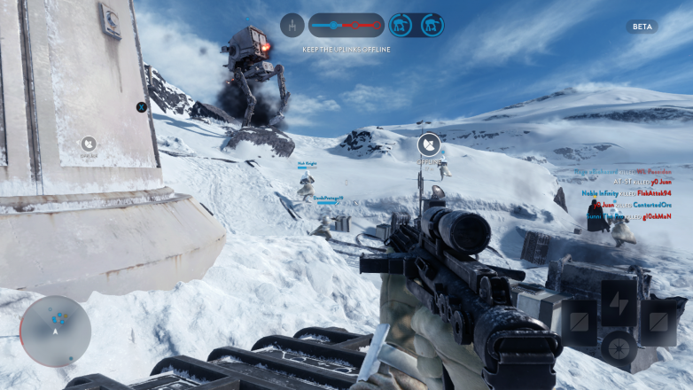 Crushing Rebel scum is hard work on Hoth, as this AT-ST has proven