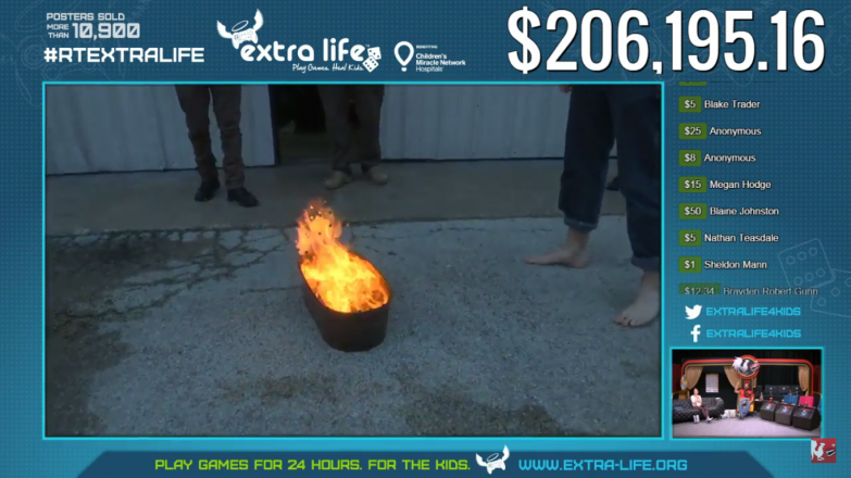 The funeral pyre of Ryan's shoes