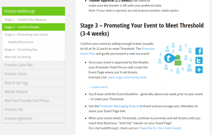 "They even have a ""walkthrough"" on how to promote your event, even if some of the methods are somewhat obvious"