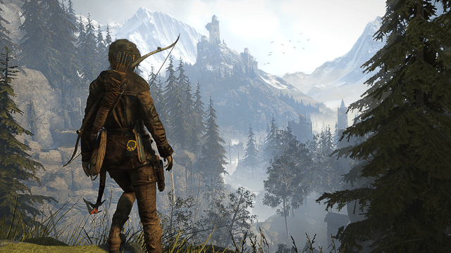 From forests to snowy mountaintops to caves, Lara Croft can reach them all