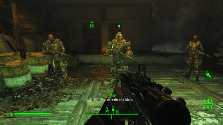 It's your friendly neighborhood cult, with their brand new assault rifles that shoot radiation bullets