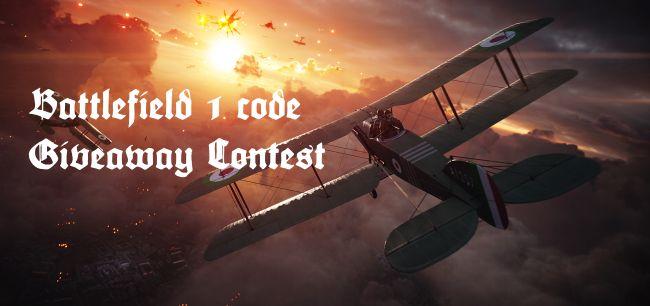 battlefield 1 code giveaway contest