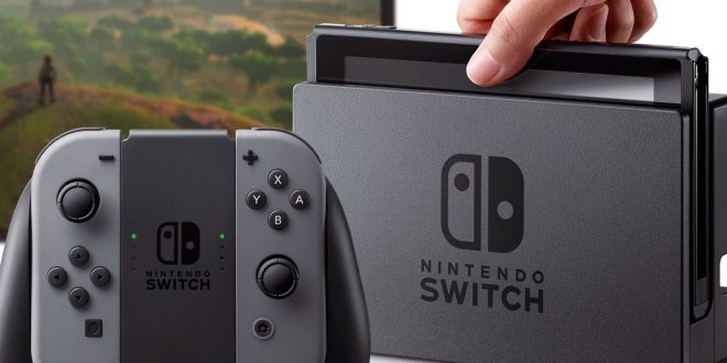 Nintendo Switch console and controller.
