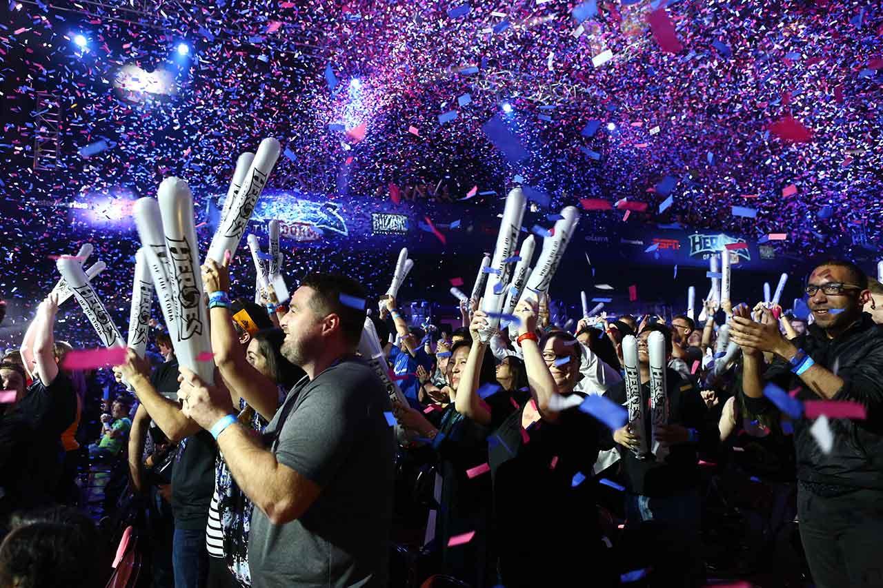 esports winner celebration