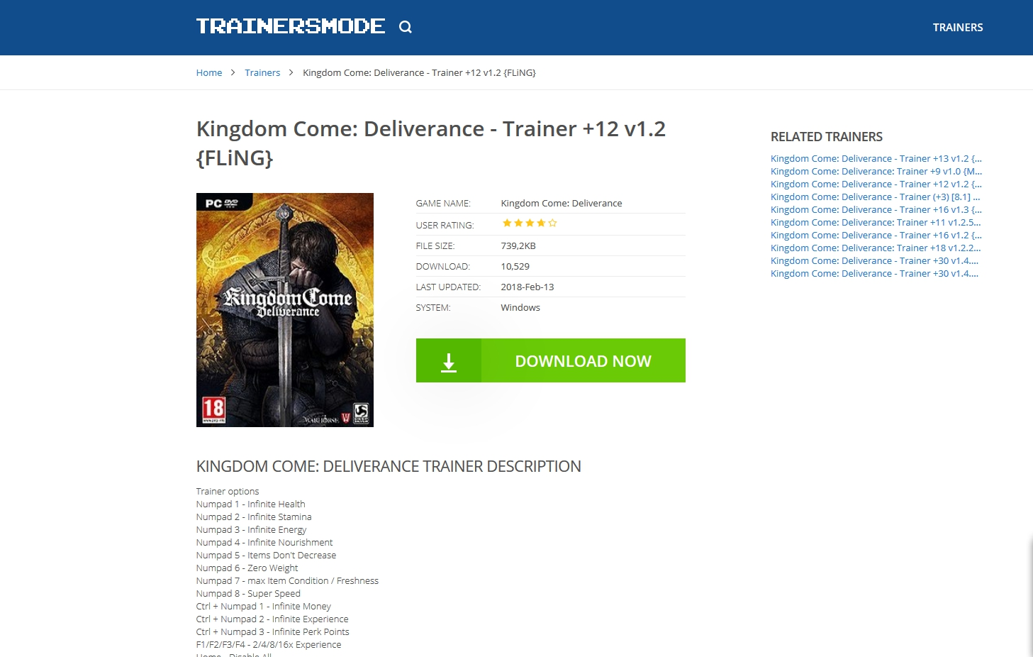 trainersmode kingdom come