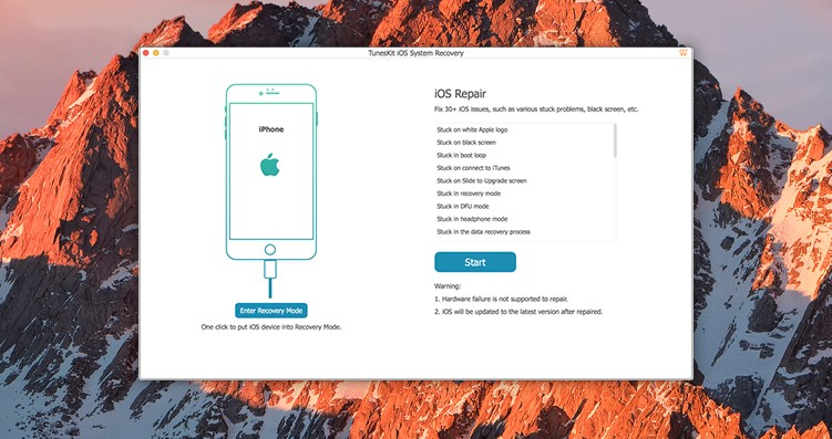 TunesKit iOS recovery 3
