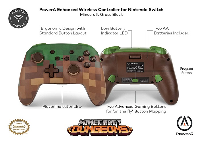 Minecraft Switch Pro Controller Detailed